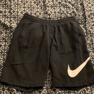Nike black sweat shorts